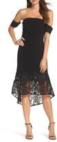 Sachin + Babi Women's Indure Lace Hem Off The Shoulder Dress