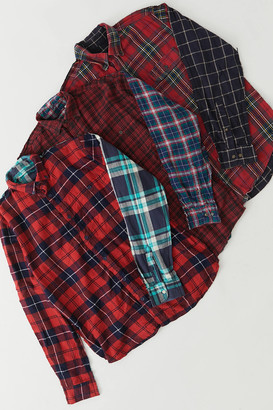 Urban Renewal Vintage Recycled Spliced Flannel Shirt