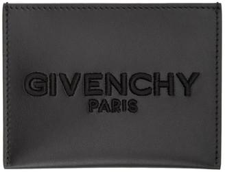 Givenchy Black Embroidered Logo Card Holder