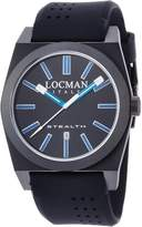 Locman Men's 43mm Blue Silicone Band Steel Case Quartz Watch 0201BKBKFBW1GOK