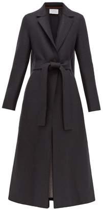 Harris Wharf London Single-breasted Belted Wool Coat - Womens - Dark Grey