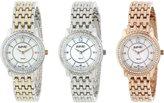 August Steiner Women's AS8027SET Three Piece Watch Set