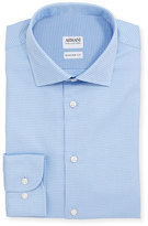 Armani Collezioni Modern-Fit Textured Dress Shirt, Light Blue