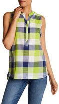 Foxcroft Sleeveless Buffalo Plaid Shirt