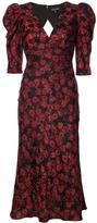 Saloni Colette Floral V-Neck Dress