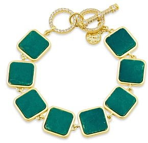 Freida Rothman Harmony Stone Link Bracelet in 14K Gold-Plated Sterling Silver