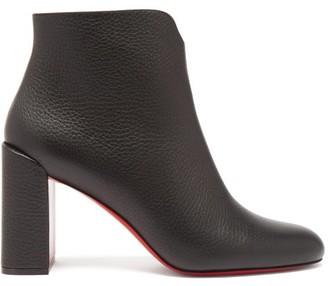 Christian Louboutin Castarika 85 Block-heel Leather Ankle Boots - Black