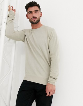 Bench Knitted crew neck jumper in stone