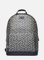 Gucci Men's Zaino Geometric Print Backpack In Beige And Black