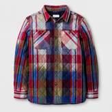 Cat & Jack Boys' Plaid Jacket Blue/Red