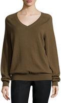 Vince Cashmere Raglan V-Neck Sweater
