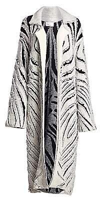 3.1 Phillip Lim Women's Zebra Fringe Coat