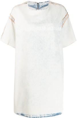 MM6 MAISON MARGIELA bleached denim T-shirt dress