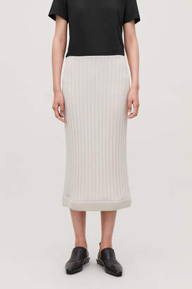 Cos RIBBED KNITTED LONG SKIRT