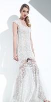 Mignon Queen Anne Neckline Lace Long Dress VM1509