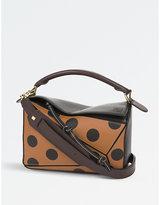 Loewe Puzzle polka-dot leather shoulder bag