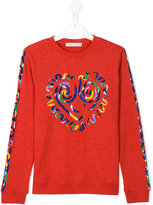 Stella McCartney heart print sweatshirt