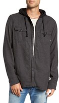 Vans Men's Never Mind Hooded Zip Shirt Jacket