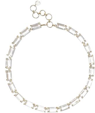 Bounkit 14-karat Gold-plated Quartz Necklace