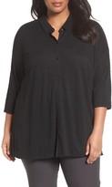 Eileen Fisher Plus Size Women's Organic Linen Jersey Shirt