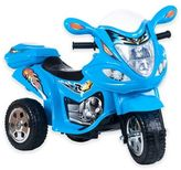 Trademark Games Lil' Rider Baron Motorized 3-Wheel Ride-On Motorcycle in Blue