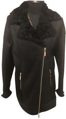 Escada Black Leather Coat for Women