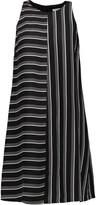 Rebecca Minkoff Elia striped satin-twill mini dress