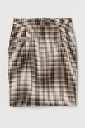 H&M Short Pencil Skirt - Beige