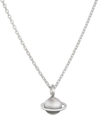 Satya Sterling Silver Saturn Necklace