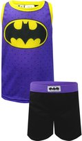 AME Sleepwear DC Comics Batgirl Shortie Pajama for Little Girls (Medium)