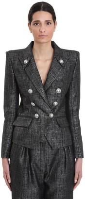 Balmain Blazer In Black Wool