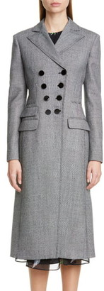 Altuzarra Glen Plaid Double Breasted Three-Quarter Coat