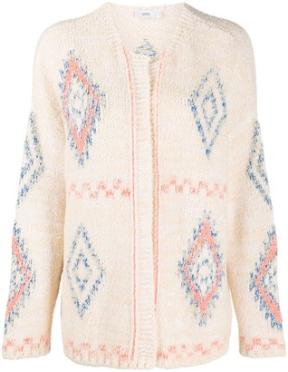 Closed Aztec pattern cardigan