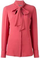 Alexander McQueen pussy bow blouse - women - Silk - 46