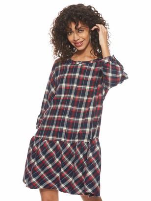 Tommy Jeans Women's Tjw 3/4 Sleeve Drop Waist Dress