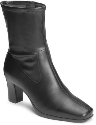 Aerosoles Cinnamon Block Heel Mid Boot
