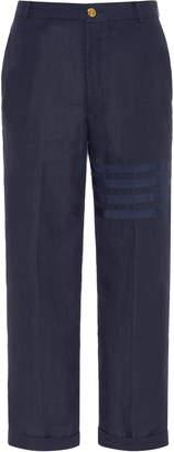 Thom Browne Linen Straight-Leg Chinos