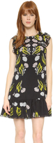 Cynthia Rowley Stencil Floral Mini Dress