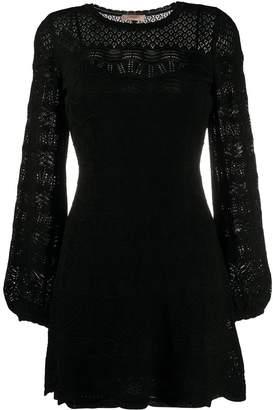 Twin-Set Twin Set scalloped lace detail mini dress