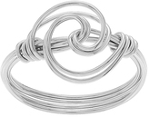 Journee Collection Sterling Silver Swirl Knot Ring