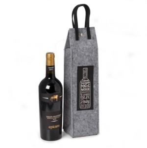 Bey-Berk Bey Berk Wines of The World Felt Wine Tote with Accents
