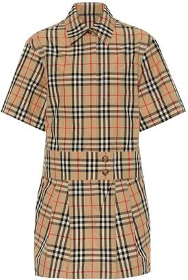 Burberry Jaynie Check cotton minidress