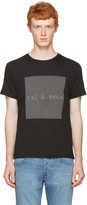 Rag & Bone Black Optical Logo T-shirt