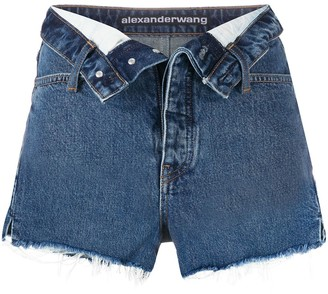 Alexander Wang Turn Down Denim Shorts
