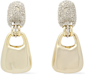 Alexis Bittar Silver And Gold-tone Crystal Earrings