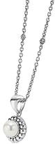 Lagos Luna Sterling Silver & Cultured Freshwater Pearl Fluted Pendant Necklace, 16