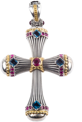 Konstantino Delos Cross Topaz & Sapphire Enhancer