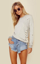 N:philanthropy shadow eyelet sweatshirt