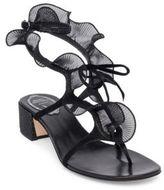 Rene Caovilla Ruffle Trimmed Sandals