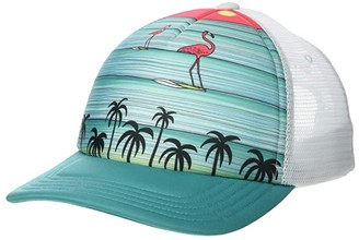 Smartwool Surfing Flamingos Trucker Cap (Oasis) Caps